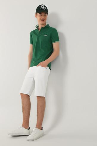 UCLA - HAMMER Yeşil Polo Yaka Erkek T-shirt