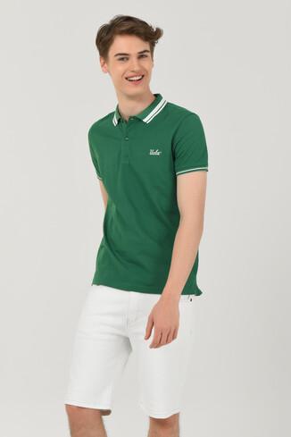 UCLA - HAMMER Yeşil Polo Yaka Erkek T-shirt (1)