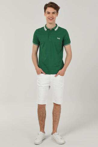 HAMMER Yeşil Polo Yaka Erkek T-shirt - Thumbnail (2)