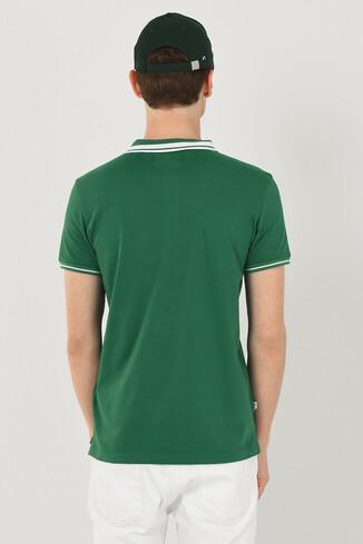 HAMMER Yeşil Polo Yaka Erkek T-shirt - Thumbnail (3)