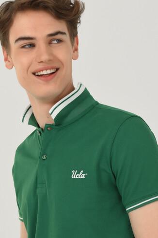 HAMMER Yeşil Polo Yaka Erkek T-shirt - Thumbnail (4)