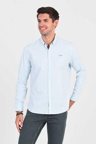 UCLA - JACKSON Açık Mavi Oxford Erkek Gömlek
