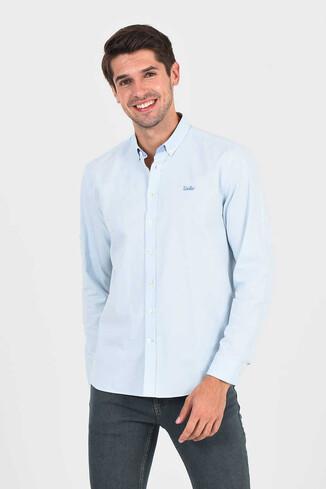 JACKSON Açık Mavi Oxford Erkek Gömlek - Thumbnail (3)