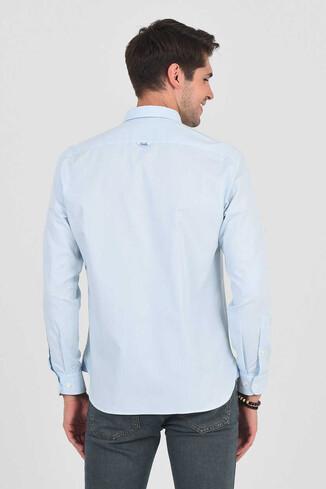JACKSON Açık Mavi Oxford Erkek Gömlek - Thumbnail (4)