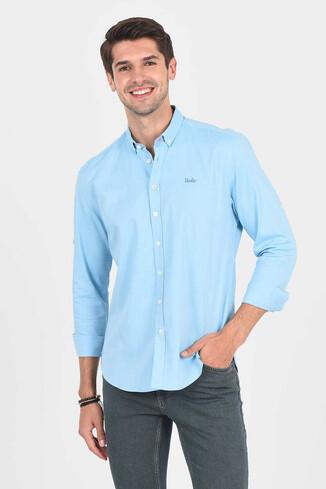 UCLA - JACKSON Aqua Oxford Erkek Gömlek