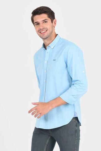JACKSON Aqua Oxford Erkek Gömlek - Thumbnail (2)