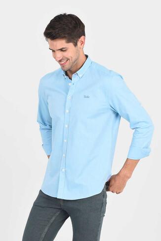 JACKSON Aqua Oxford Erkek Gömlek - Thumbnail (3)