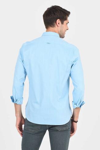 JACKSON Aqua Oxford Erkek Gömlek - Thumbnail (4)