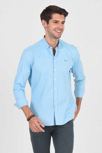 UCLA - JACKSON Aqua Oxford Erkek Gömlek (1)