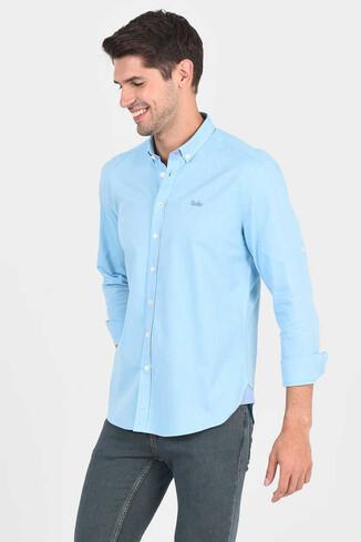 JACKSON Aqua Oxford Erkek Gömlek - Thumbnail (5)