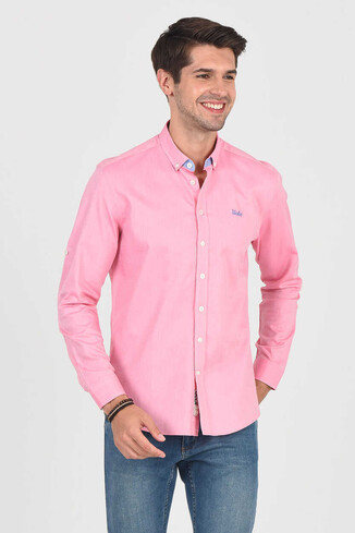 UCLA - JACKSON Pembe Oxford Erkek Gömlek