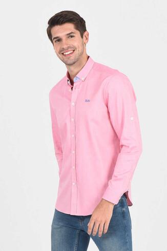 UCLA - JACKSON Pembe Oxford Erkek Gömlek (1)