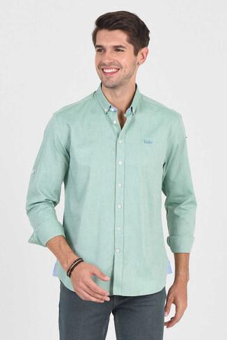 JACKSON Yeşil Oxford Erkek Gömlek - Thumbnail (2)
