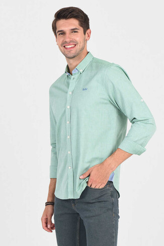 JACKSON Yeşil Oxford Erkek Gömlek - Thumbnail (3)