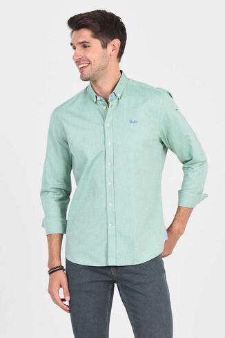 JACKSON Yeşil Oxford Erkek Gömlek - Thumbnail (5)
