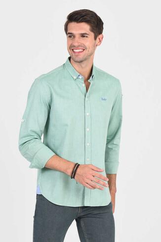 UCLA - JACKSON Yeşil Oxford Erkek Gömlek
