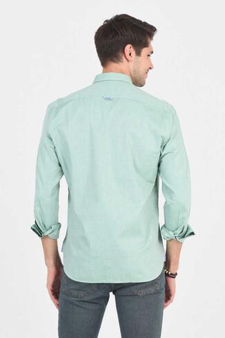 JACKSON Yeşil Oxford Erkek Gömlek - Thumbnail (4)