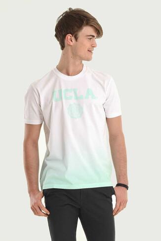 UCLA - JULIAN Mint Bisiklet Yaka Erkek T-shirt