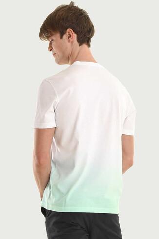 JULIAN Mint Bisiklet Yaka Erkek T-shirt - Thumbnail (2)