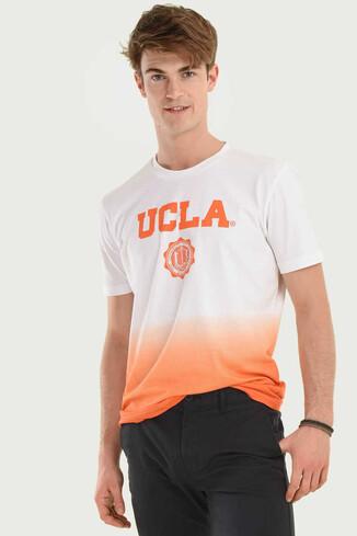 UCLA - JULIAN Turuncu Bisiklet Yaka Erkek T-shirt