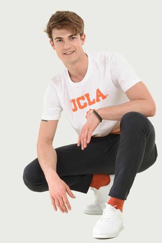 UCLA - JULIAN Turuncu Bisiklet Yaka Erkek T-shirt (1)