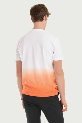 JULIAN Turuncu Bisiklet Yaka Erkek T-shirt - Thumbnail (2)