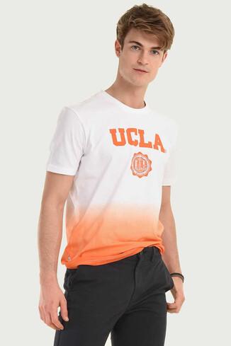 JULIAN Turuncu Bisiklet Yaka Erkek T-shirt - Thumbnail (3)