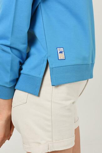 UCLA - LODI Mavi Bisiklet Yaka Baskılı Kadın Sweatshirt (1)