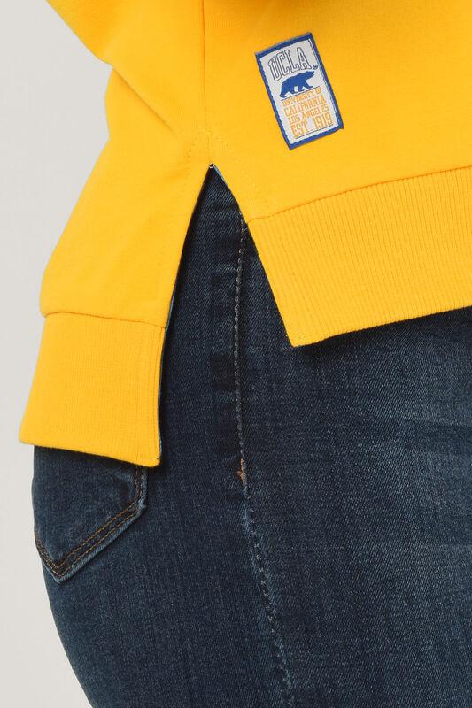 LODI Sarı Bisiklet Yaka Baskılı Kadın Sweatshirt - Thumbnail