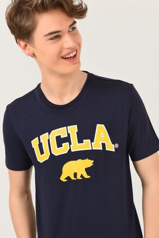 UCLA - LONE Lacivert Bisiklet Yaka Erkek T-shirt (1)