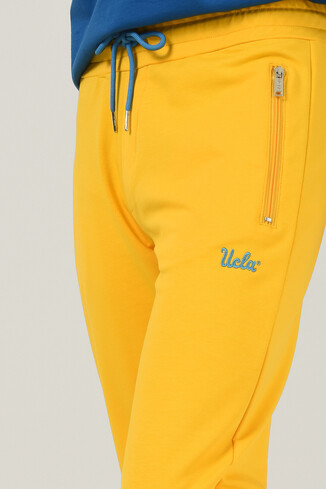 UCLA - LOOMIS Sarı Daralan Kesim Nakışlı Erkek Eşofman Alt