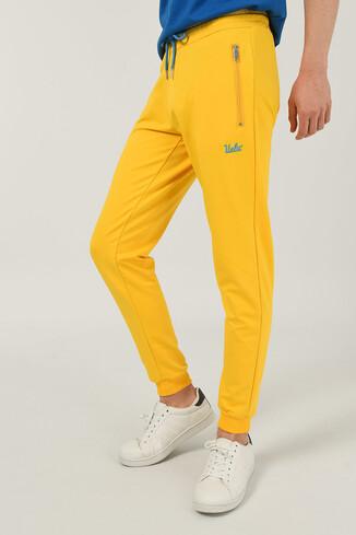 UCLA - LOOMIS Sarı Daralan Kesim Nakışlı Erkek Eşofman Alt (1)