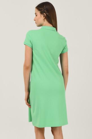 MADEIRA Yeşil Polo Yaka Nakışlı Kadın Elbise - Thumbnail (3)