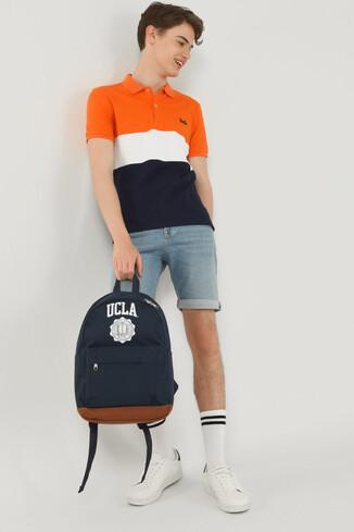 UCLA - MANTECA Turuncu Polo Yaka Erkek T-shirt