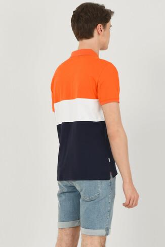 MANTECA Turuncu Polo Yaka Erkek T-shirt - Thumbnail (3)