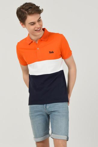 MANTECA Turuncu Polo Yaka Erkek T-shirt - Thumbnail (4)