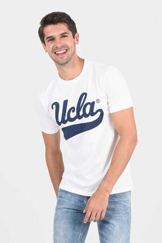 MARGAN Beyaz Bisiklet Yaka Erkek T-shirt - Thumbnail (2)