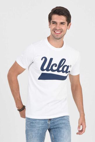 MARGAN Beyaz Bisiklet Yaka Erkek T-shirt - Thumbnail (5)