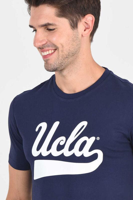 MARGAN Lacivert Bisiklet Yaka Erkek T-shirt - Thumbnail