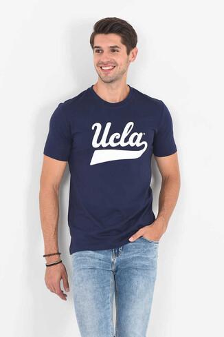 MARGAN Lacivert Bisiklet Yaka Erkek T-shirt - Thumbnail (2)