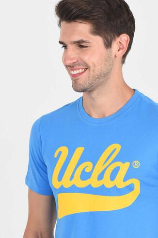 MARGAN Mavi Bisiklet Yaka Erkek T-shirt - Thumbnail (2)