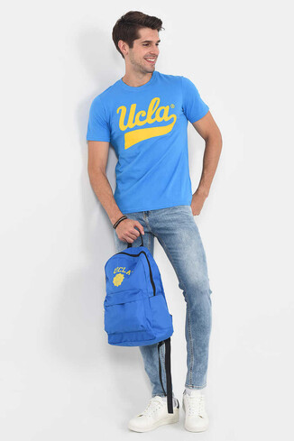 MARGAN Mavi Bisiklet Yaka Erkek T-shirt - Thumbnail (5)