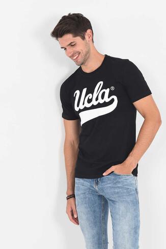MARGAN Siyah Bisiklet Yaka Erkek T-shirt - Thumbnail (5)