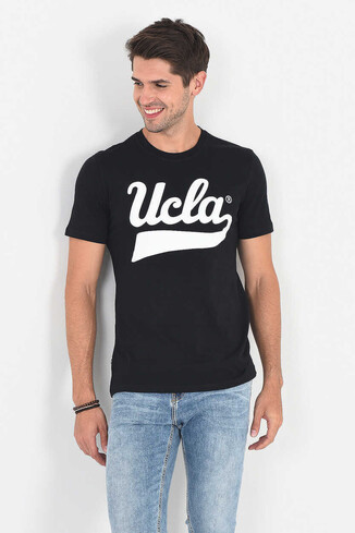 UCLA - MARGAN Siyah Bisiklet Yaka Erkek T-shirt (1)