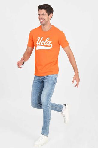 UCLA - MARGAN Turuncu Bisiklet Yaka Erkek T-shirt (1)