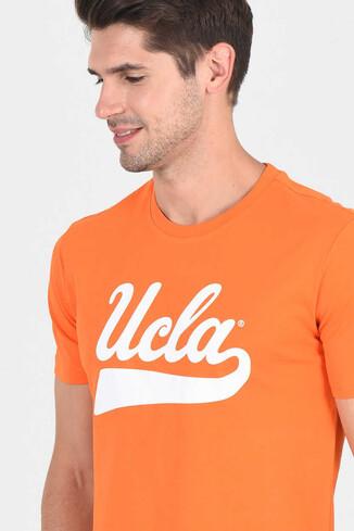 MARGAN Turuncu Bisiklet Yaka Erkek T-shirt - Thumbnail (3)