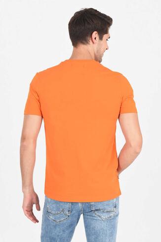 MARGAN Turuncu Bisiklet Yaka Erkek T-shirt - Thumbnail (4)