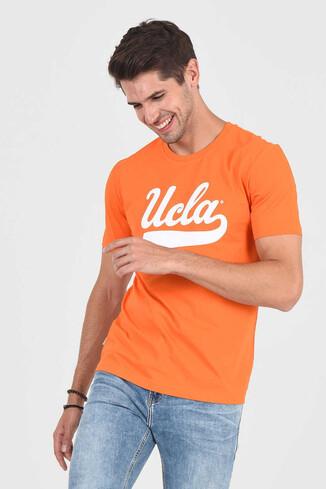 UCLA - MARGAN Turuncu Bisiklet Yaka Erkek T-shirt