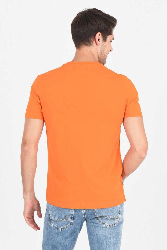 MARGAN Turuncu Bisiklet Yaka Erkek T-shirt - Thumbnail