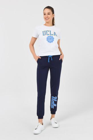 UCLA - MARINA Lacivert Daralan Kesim Baskılı Kadın Eşofman Alt